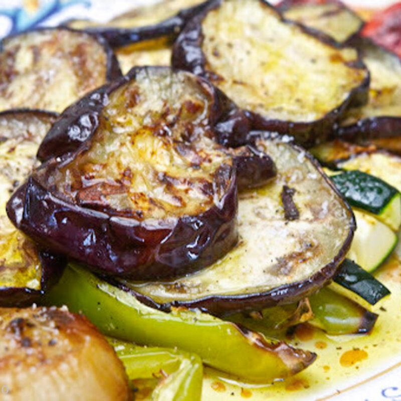 Bruschetta sült zöldségekkel
