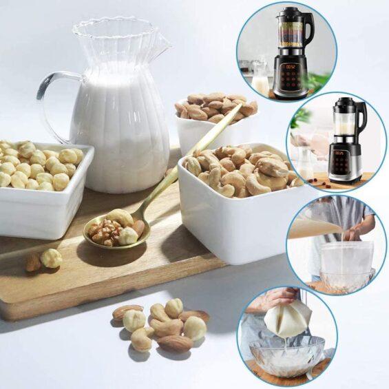 Növényi tej, magtej készítő U alakú szuper finom szűrő zsák