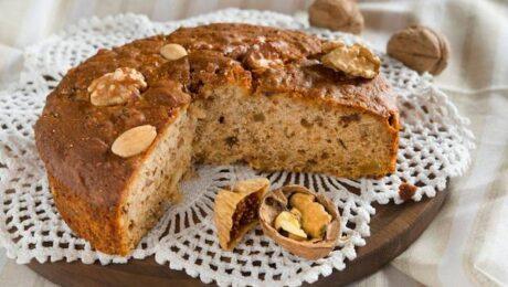 Olasz mandulás és szárított fügés torta: Zelten Trentino recept