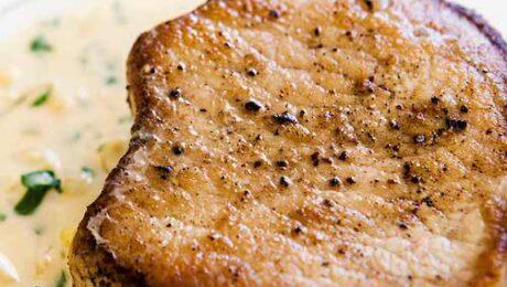 Sertés szűzpecsenye mennyei mustáros mártással