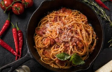 Spagetti all'Amatriciana az eredeti recept alapján